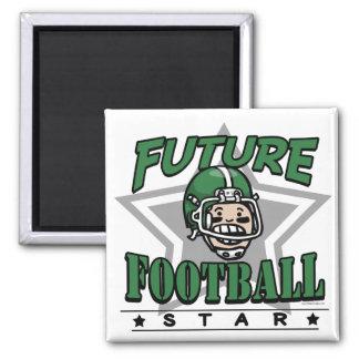 Future Football Star Green Helmet Magnet