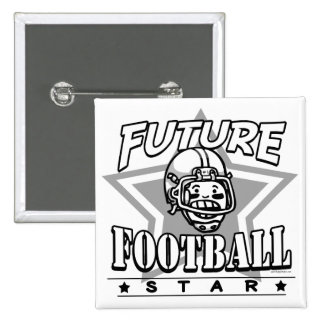 Future Football Star White Helmet Pinback Buttons