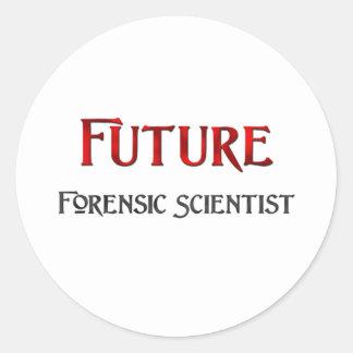 Future Forensic Scientist Classic Round Sticker