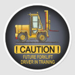 Future Forklift Truck Driver Kids Sticker