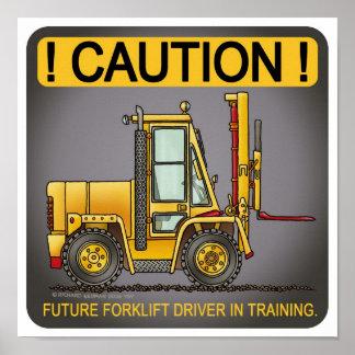 Future ForkliftTruck Driver Poster Print