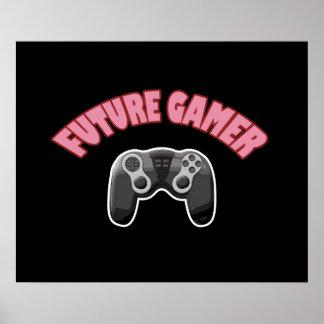 Future Gamer - Red & Controller Print