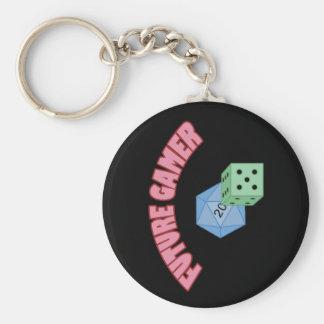 Future Gamer - Red & Dice Basic Round Button Keychain