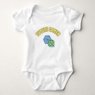 Future Gamer - Yellow & Dice Baby Bodysuit