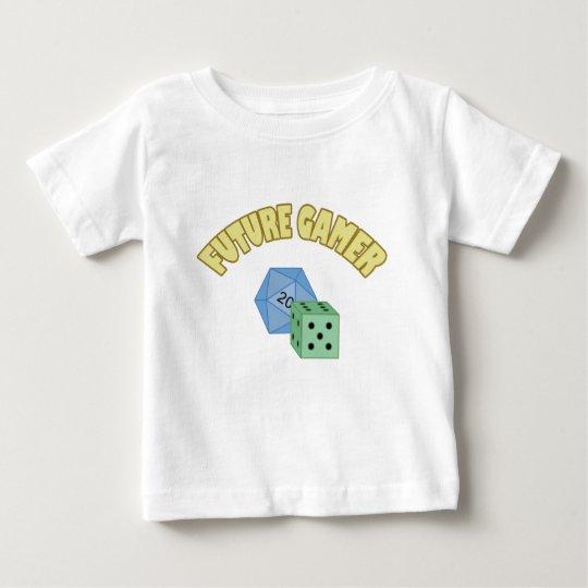 Future Gamer - Yellow & Dice Baby T-Shirt