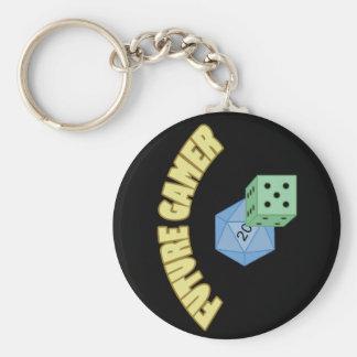 Future Gamer - Yellow Dice Keychains