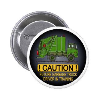 Future Garbage Truck Green Driver Button Pin