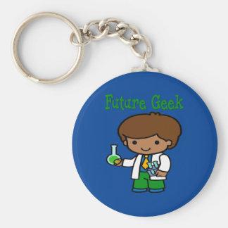 Future Geek  Dark Skin Keychain