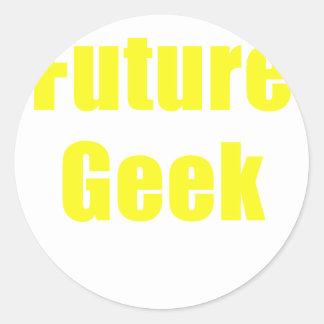 Future Geek Classic Round Sticker