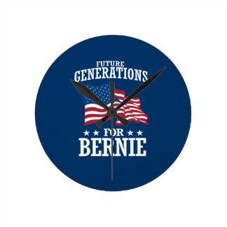 FUTURE GENERATIONS FOR BERNIE SANDERS ROUND CLOCK
