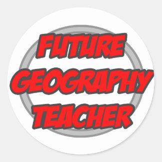 Future Geography Teacher Classic Round Sticker