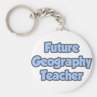 Future Geography Teacher Keychain