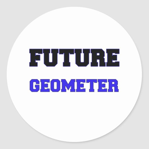 Future Geometer Round Sticker