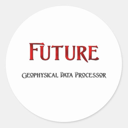 Future Geophysical Data Processor Round Stickers