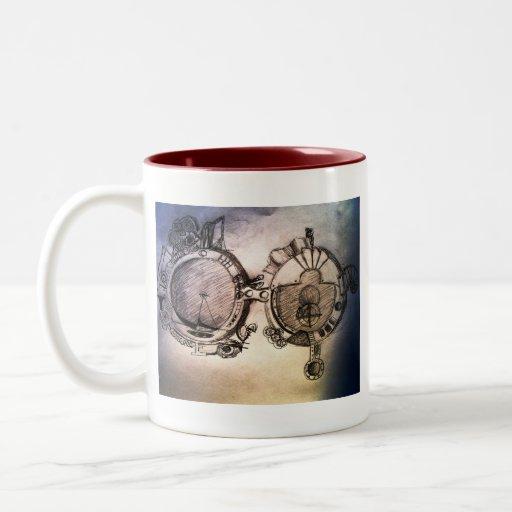 future glasses Two-Tone coffee mug