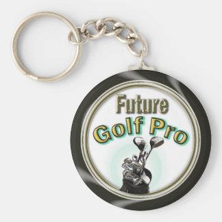 Future Golf Pro Basic Round Button Keychain