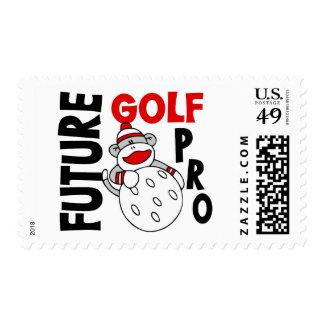 Future Golf Pro Sock Monkey Postage Stamps
