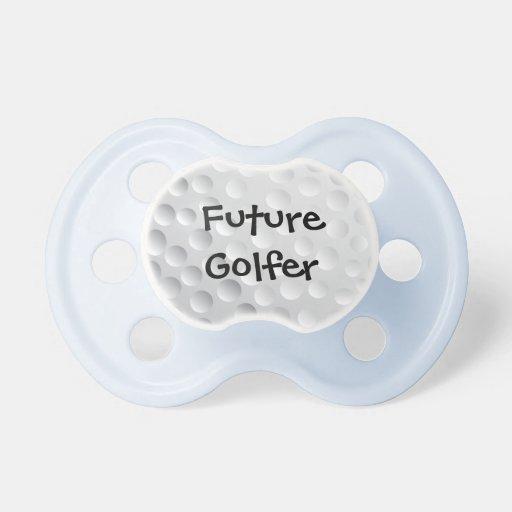 future golfer golf ball texture pacifiers