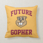Future Gopher Throw Pillows