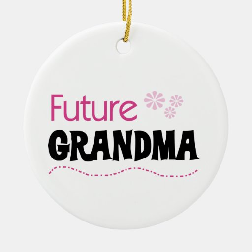 Future Grandma Gifts Double-Sided Ceramic Round Christmas Ornament