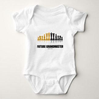 Future Grandmaster (Reflective Chess Set) Baby Bodysuit