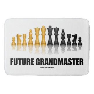 Future Grandmaster Reflective Chess Set Bathroom Mat