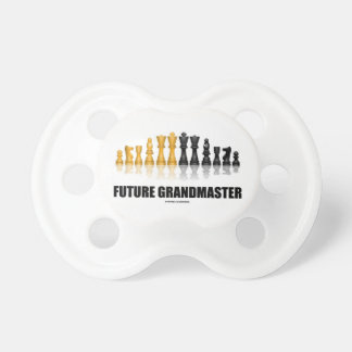 Future Grandmaster (Reflective Chess Set) Baby Pacifiers