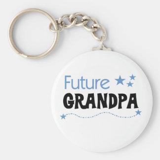 Future Grandpa Basic Round Button Keychain