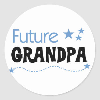 Future Grandpa Tshirts and Gifts Round Sticker