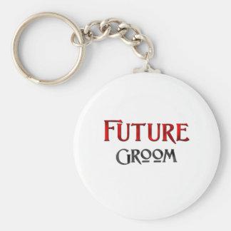 Future Groom Basic Round Button Keychain