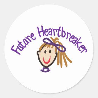 Future Heart Breaker Classic Round Sticker