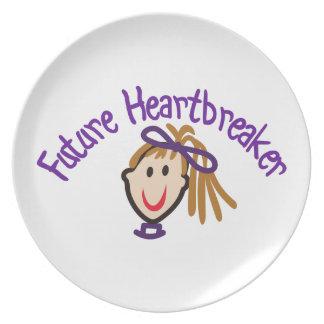 Future Heart Breaker Melamine Plate