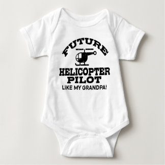 Future Helicopter Pilot Like My Grandpa Baby Bodysuit