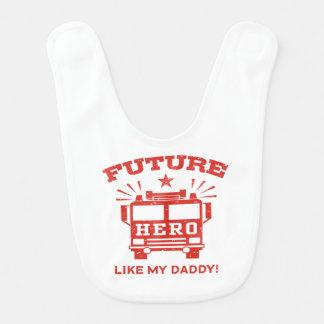 Future Hero Like My Daddy Baby Bib