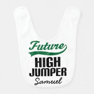 Future High Jumper Personalized Baby Bib