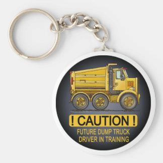 Future Highway Dump Truck Driver Key Chain