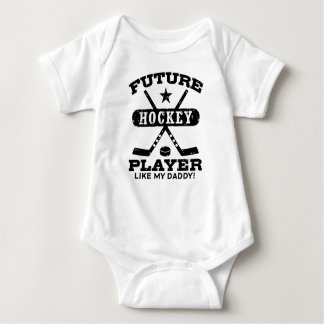 Future Hockey Player Like My Daddy Baby Bodysuit