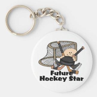 Future Hockey Star Basic Round Button Keychain