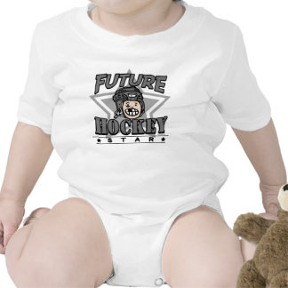 Future Hockey Star Black Helmet Baby Creeper