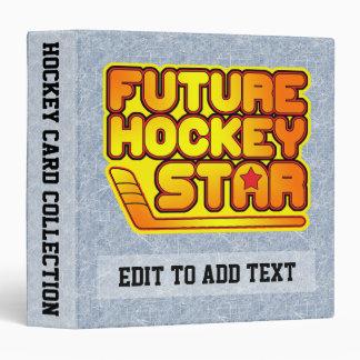 Future Hockey Star Card Album 3 Ring Binder