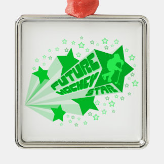 Future Hockey Star Christmas Oranment Metal Ornament