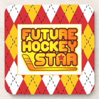 Future Hockey Star Drinks Coasters