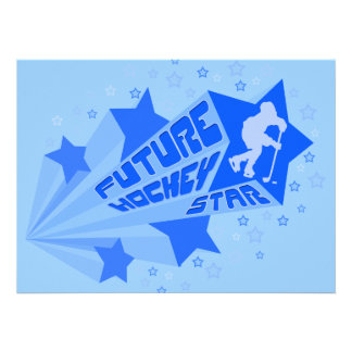 Future Hockey Star Party Invitations