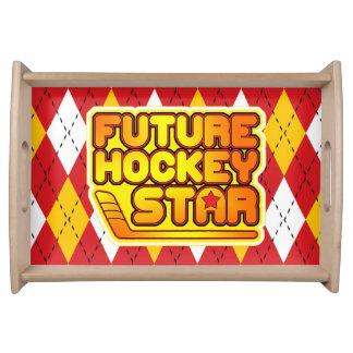 Future Hockey Star Serving Tray