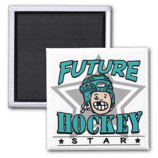 Future Hockey Star Teal Helmet Magnet