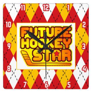 Future Hockey Star Wall Clock