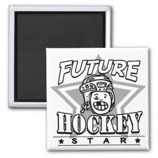 Future Hockey Star White Helmet Magnet