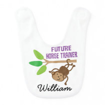 Future Horse Trainer Personalized Baby Bib