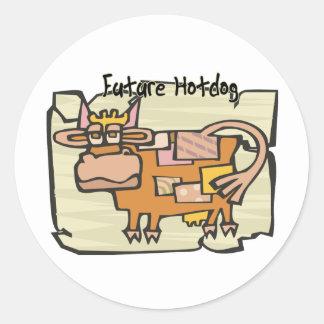 Future Hotdog Classic Round Sticker