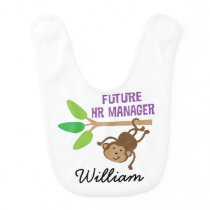 Future HR Manager Personalized Baby Bib